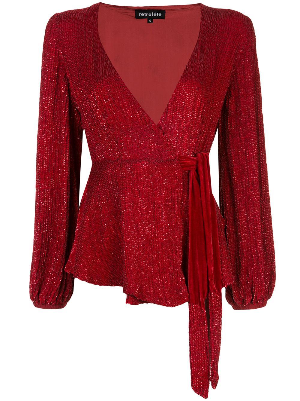 Bette Long Sleeve Sequin Top