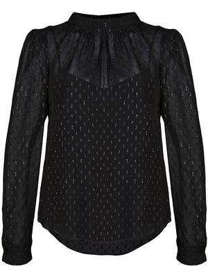 Melling Long Sleeve Blouse With Neck Tie