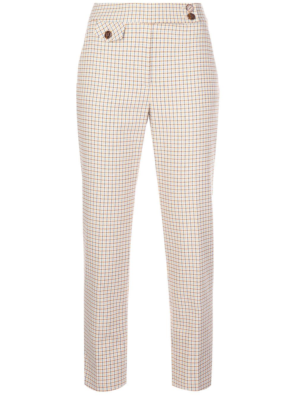 Renzo Check Cropped Pant Item # 1911HT0086409