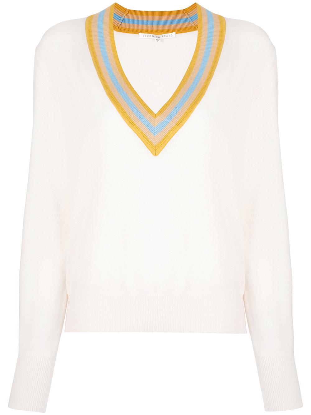 Jessel Long Sleeve V- Neck Sweater Item # 1911KN4119389