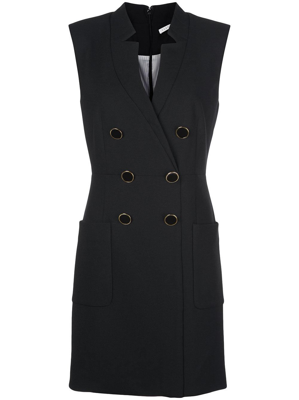Doreen Cap Sleeve Double Breasted Blazer Dress Item # 1911SU0012785