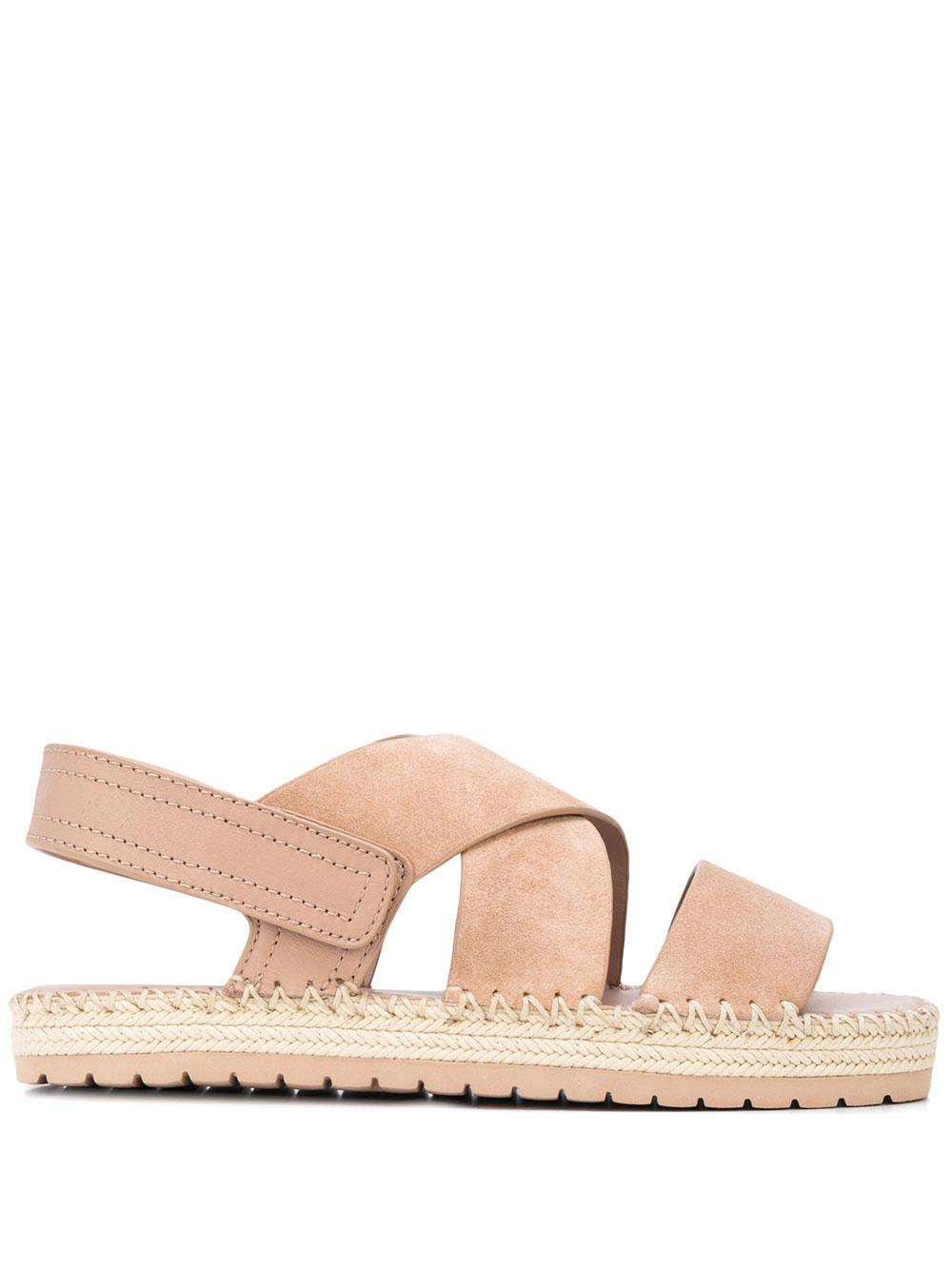 Suede Strappy Flat Sandal