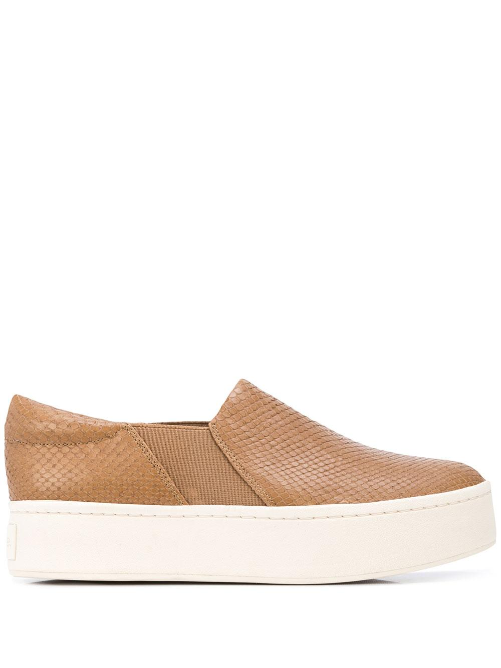 Snake Emb 40MM Leather Platform Slip-On