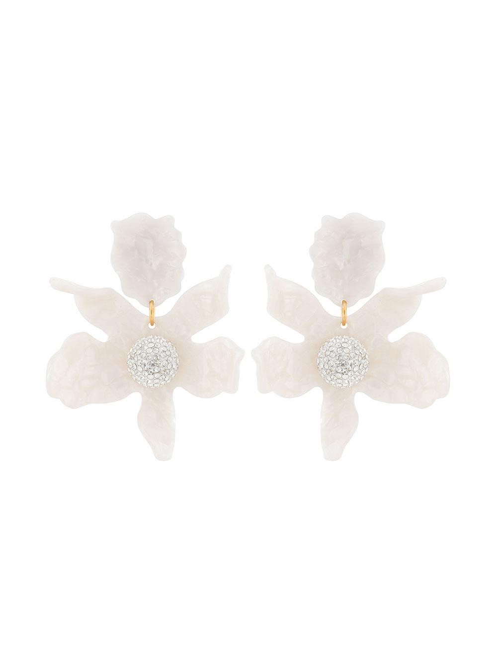 Crystal Lily Clip Earrings Item # LS0349MP-R20