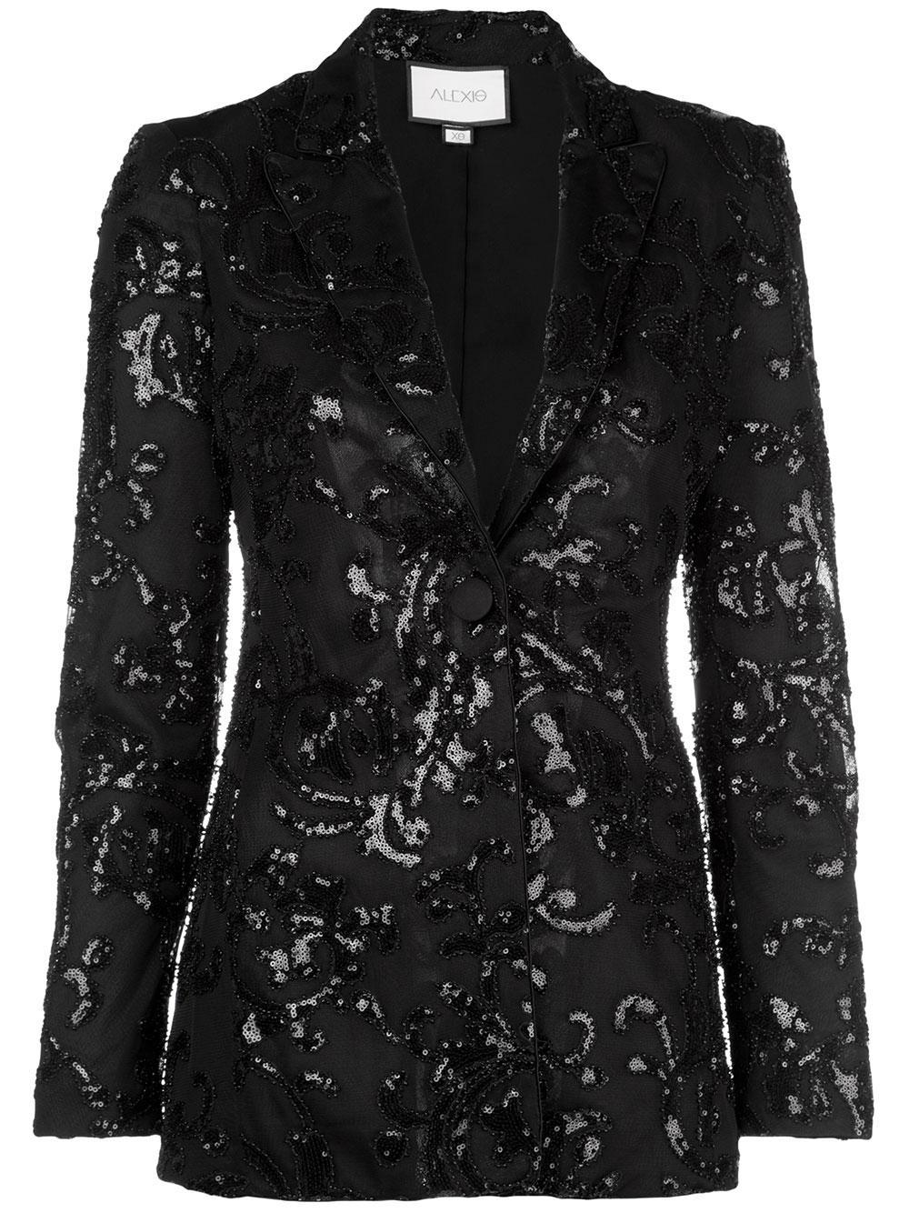 Firdas Beaded Jacquard Suit Blazer Item # A41905155823