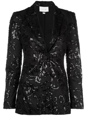 Firdas Beaded Jacquard Suit Blazer