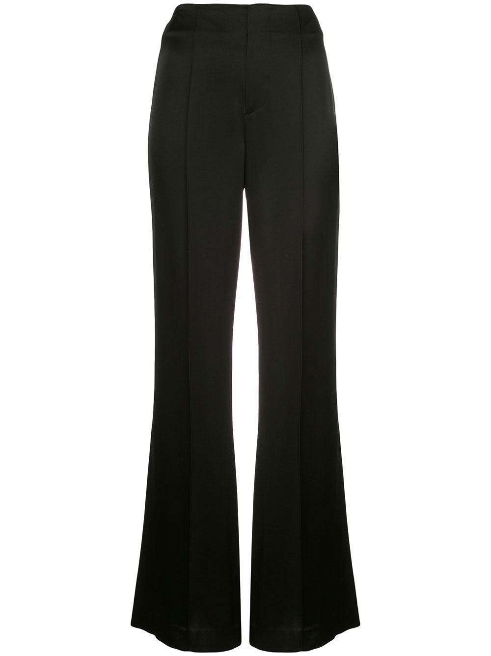 Dylan Satin Clean High Waist Wide Leg Pant