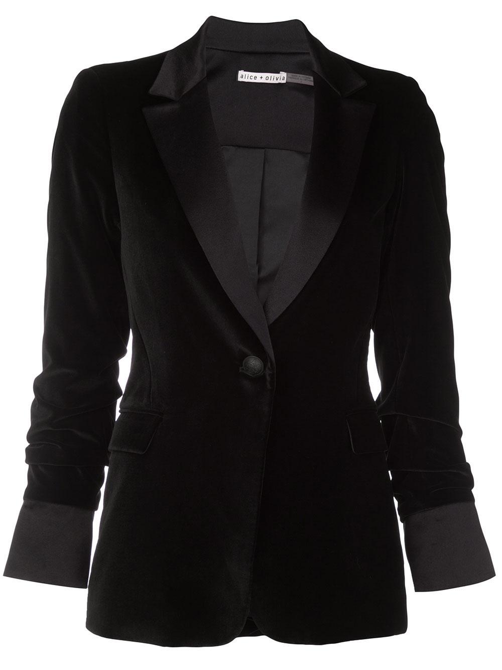 Macey Pleated Sleeve Fitted Blazer Item # CC910B69204