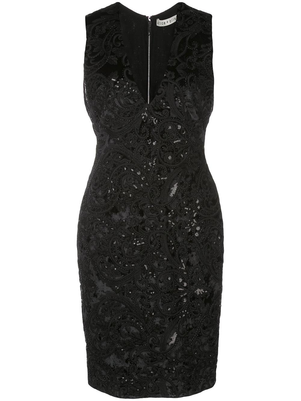 Alba Midi Velvet Burnout Sheath Dress