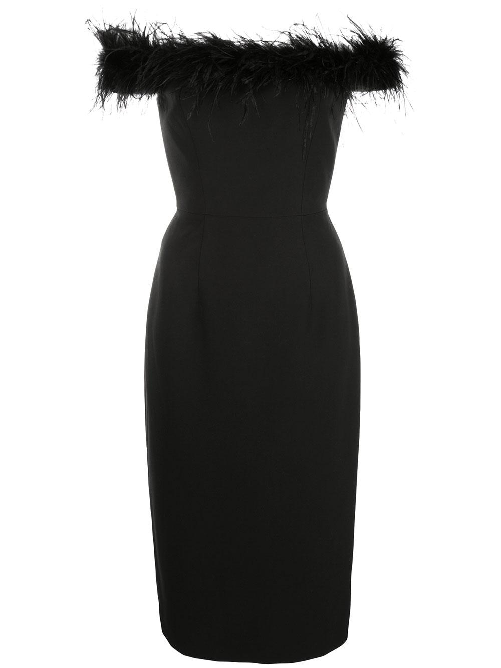 Feather Top Sheath Dress