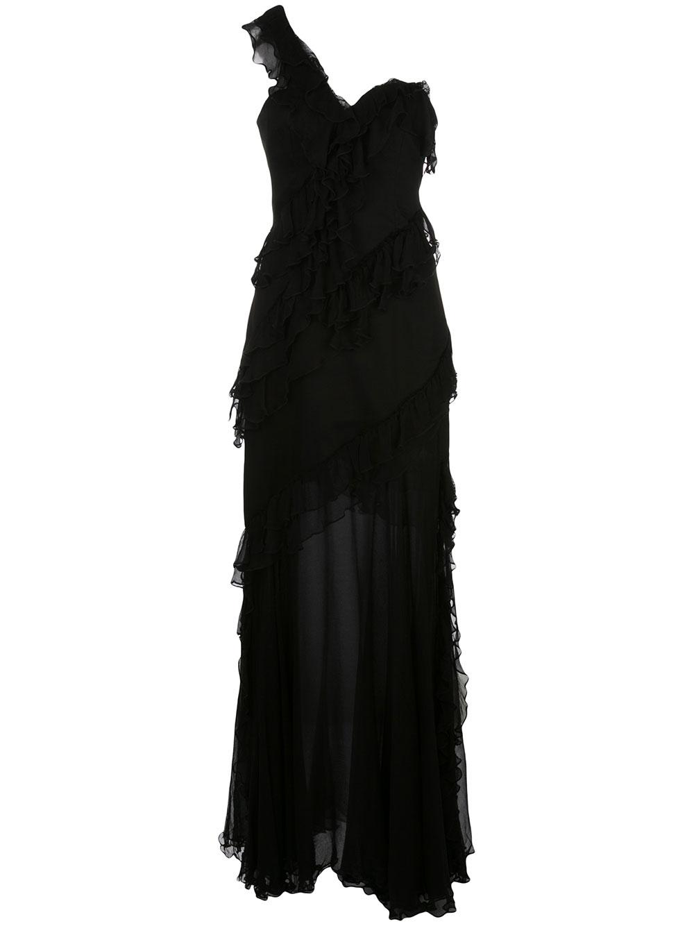 Harlow One Shoulder Sheer Skirt Dress