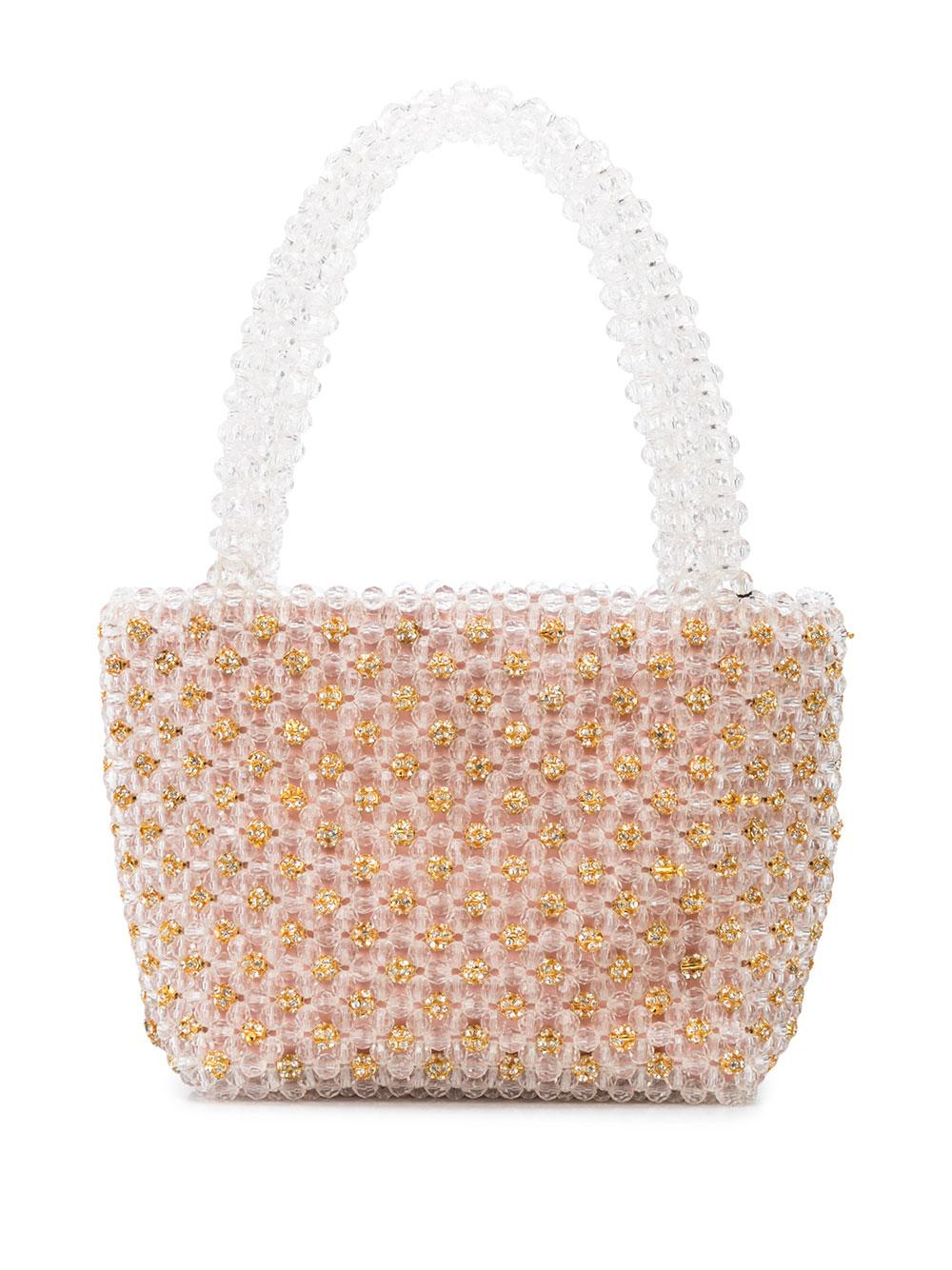Mina Beaded Mini Tote Item # MINA-JEBE