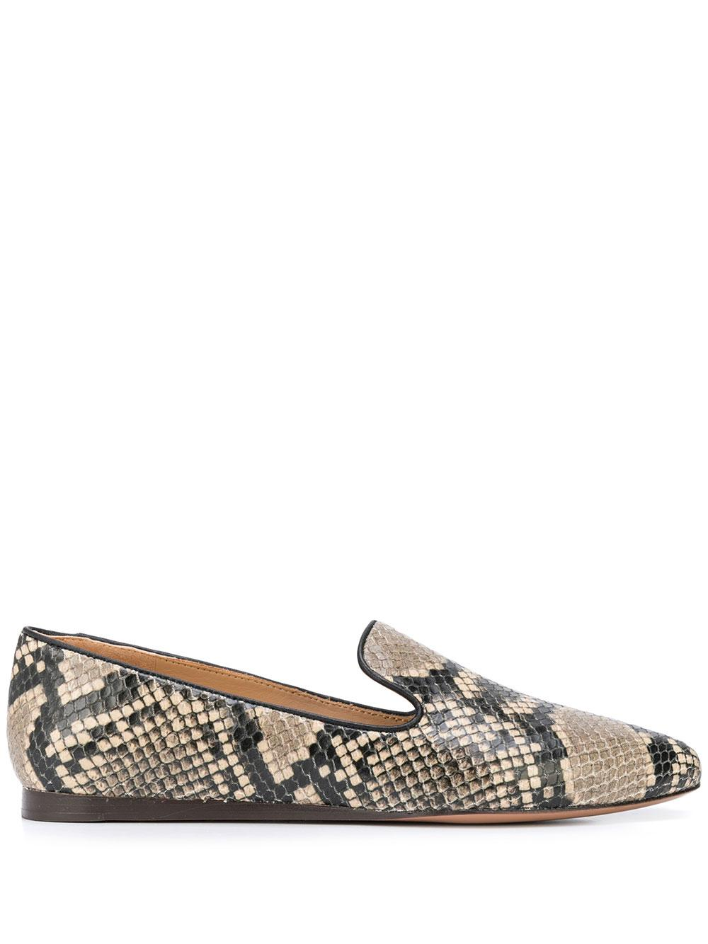 Griffin Python Print Flat Loafer