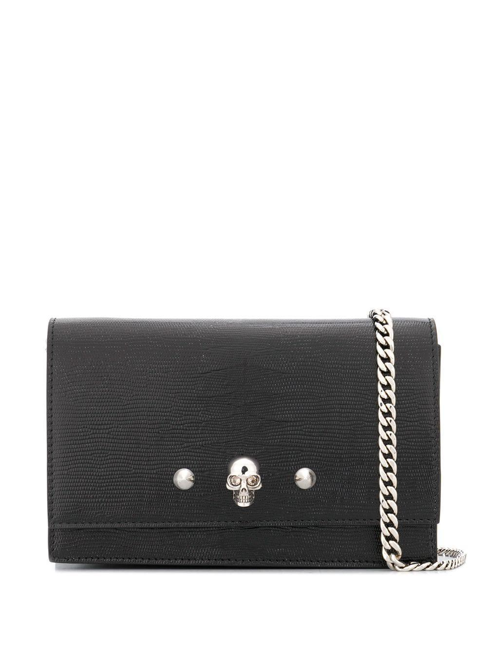 Leather Skill/Studs Small Bag With Chain Item # 6103311RE0Y