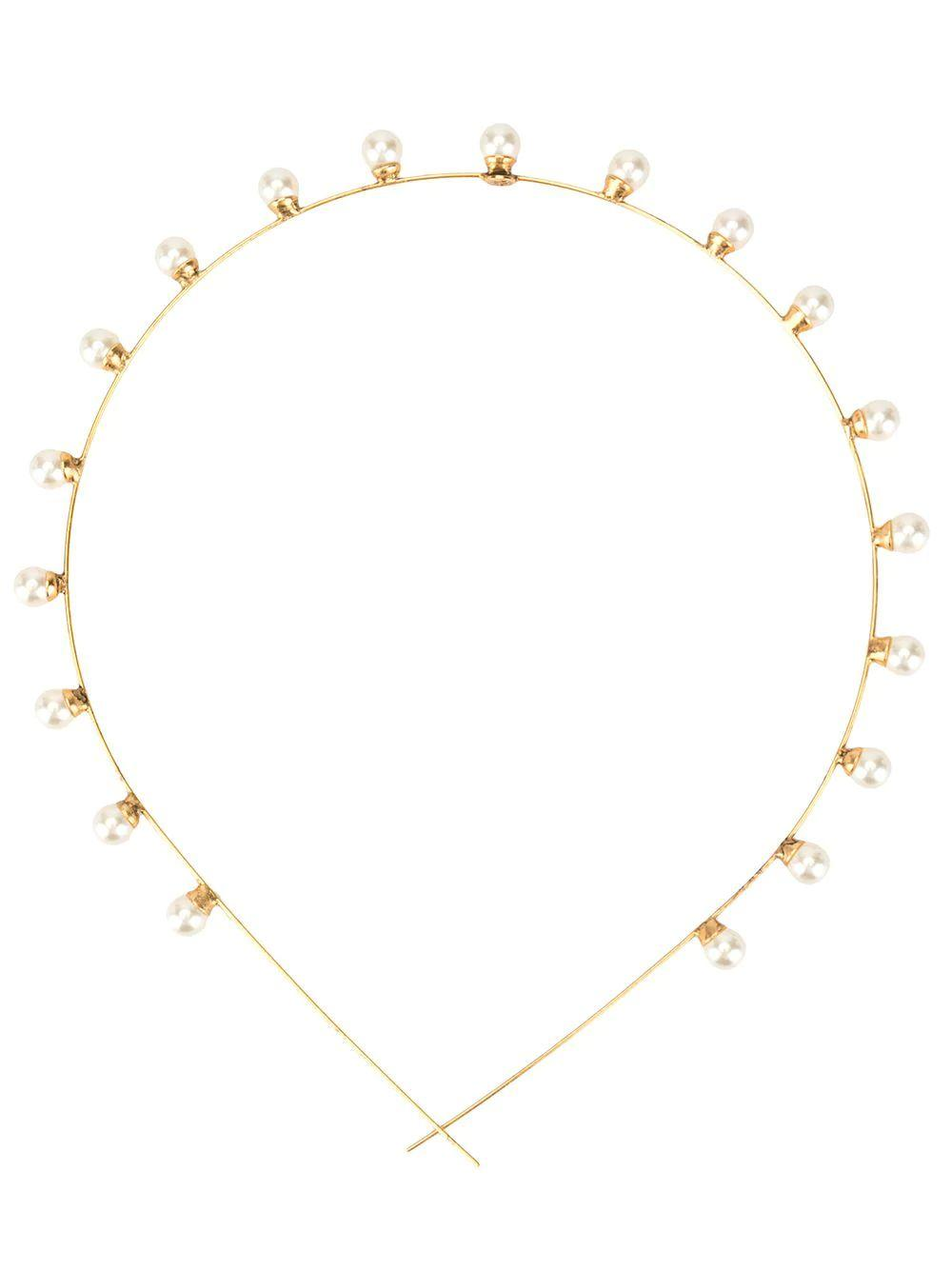 Ines Skinny Pearl Headband