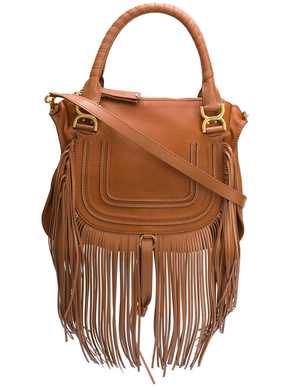 Marcie Medium Double Carry Bag With Frin