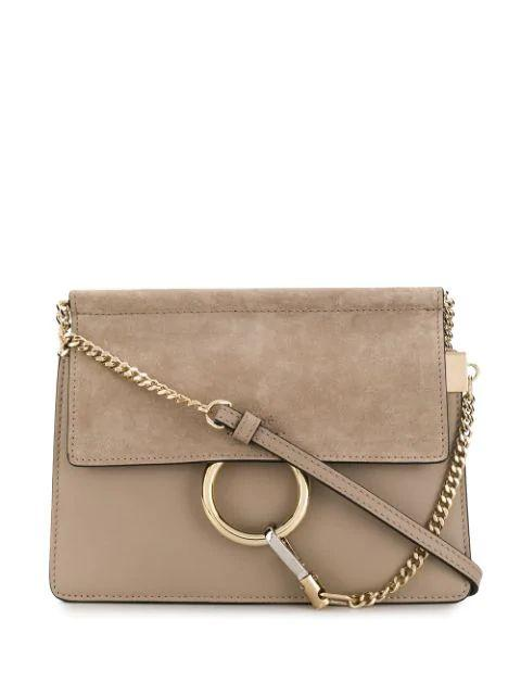Faye Mini Smooth And Suede Calfskin Shoulder Item # CHC20SS202H2O23W