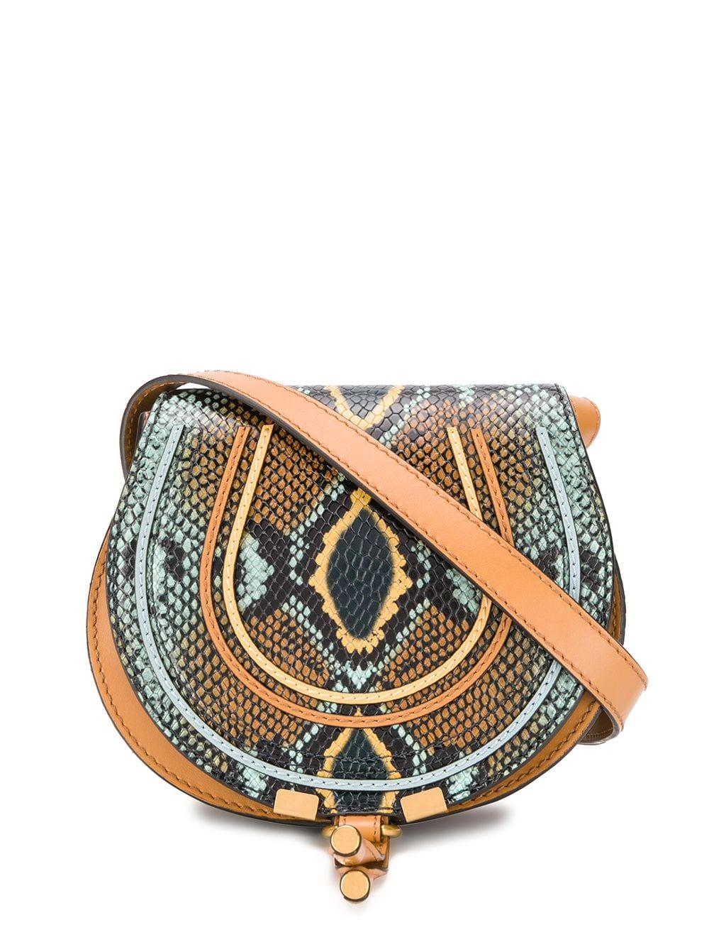 Marcie Small Faux Python Crossbody Bag