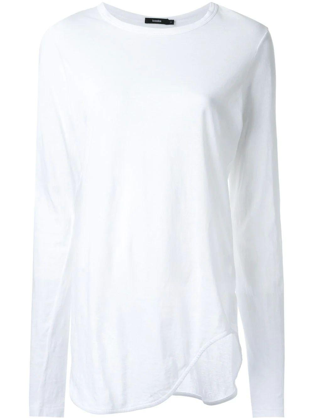 Heritage Scoop Hem Long Sleeve Tshirt Item # PC16WJT65