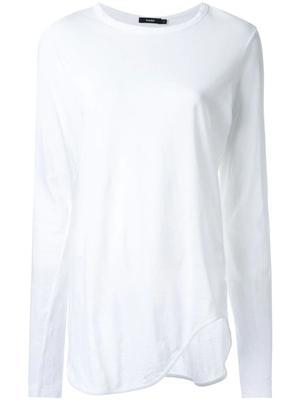 Heritage Scoop Hem Long Sleeve Tshirt