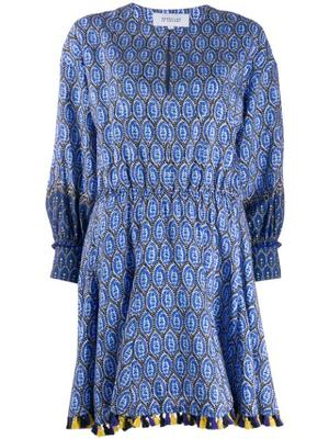 Cassia Printed Dress With Tassels