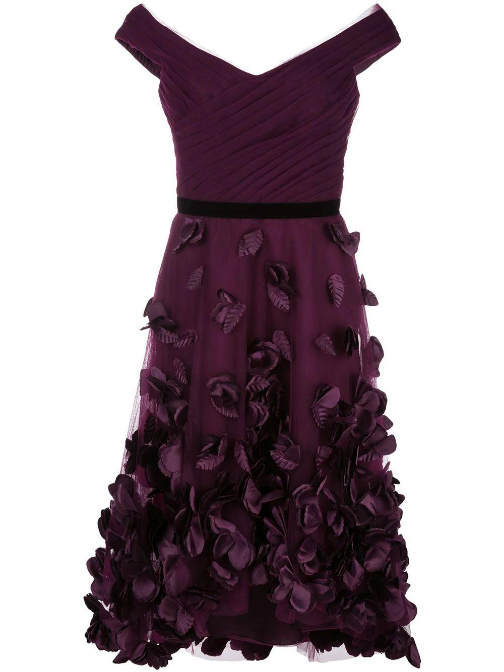Strapless High Low Cocktail Dress With 3d Flowers Item # N34C1034