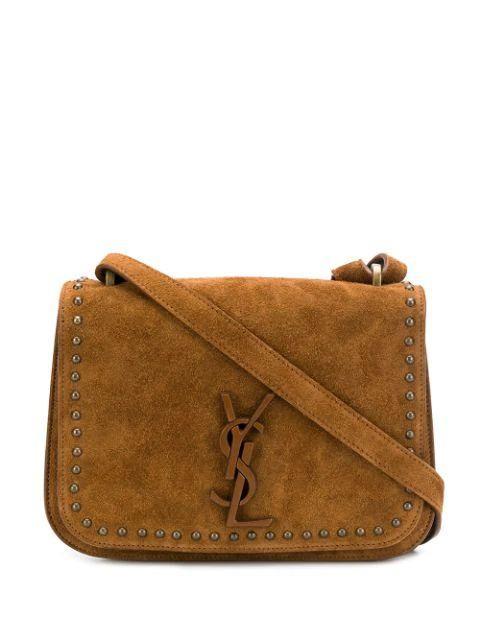 Mono Suede Flap Shoulder Bag