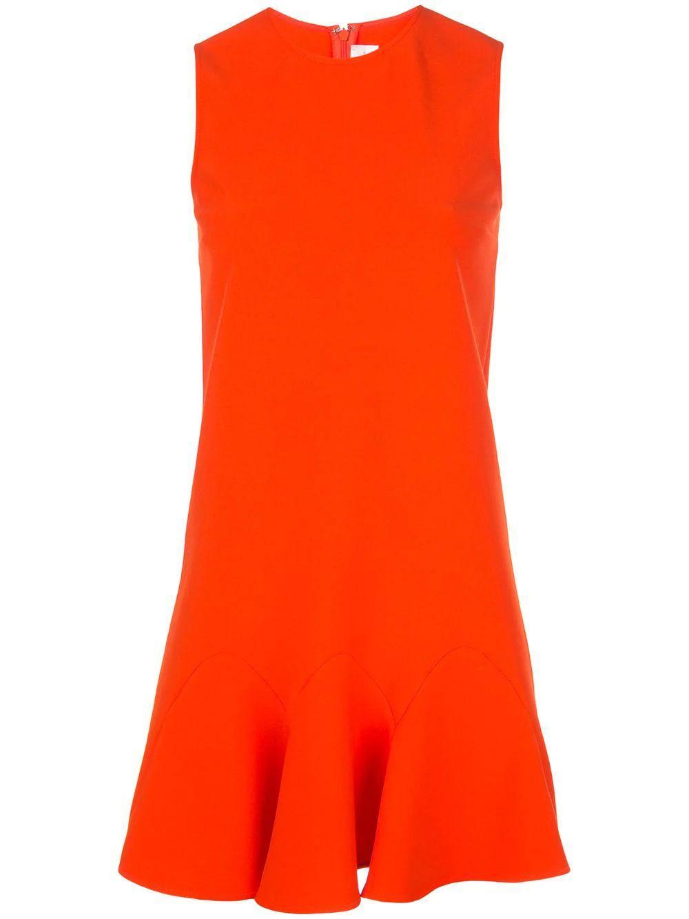 Sleeve Less Flounce Hem Shift Dress Item # 2120WDR000897A