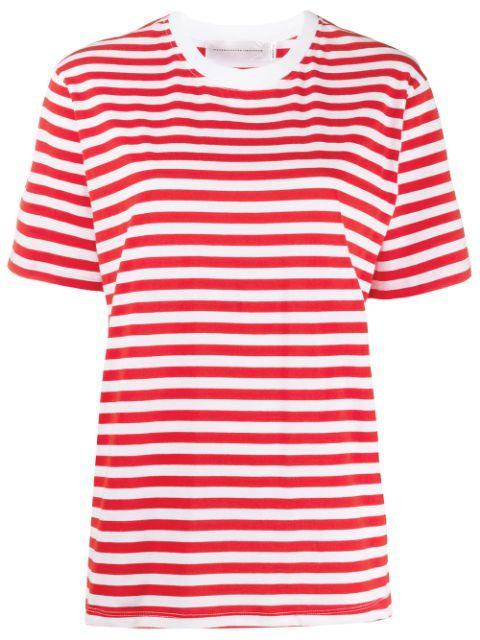 Short Sleeve Stripe Tee Shirt Item # 2120JTS000449A