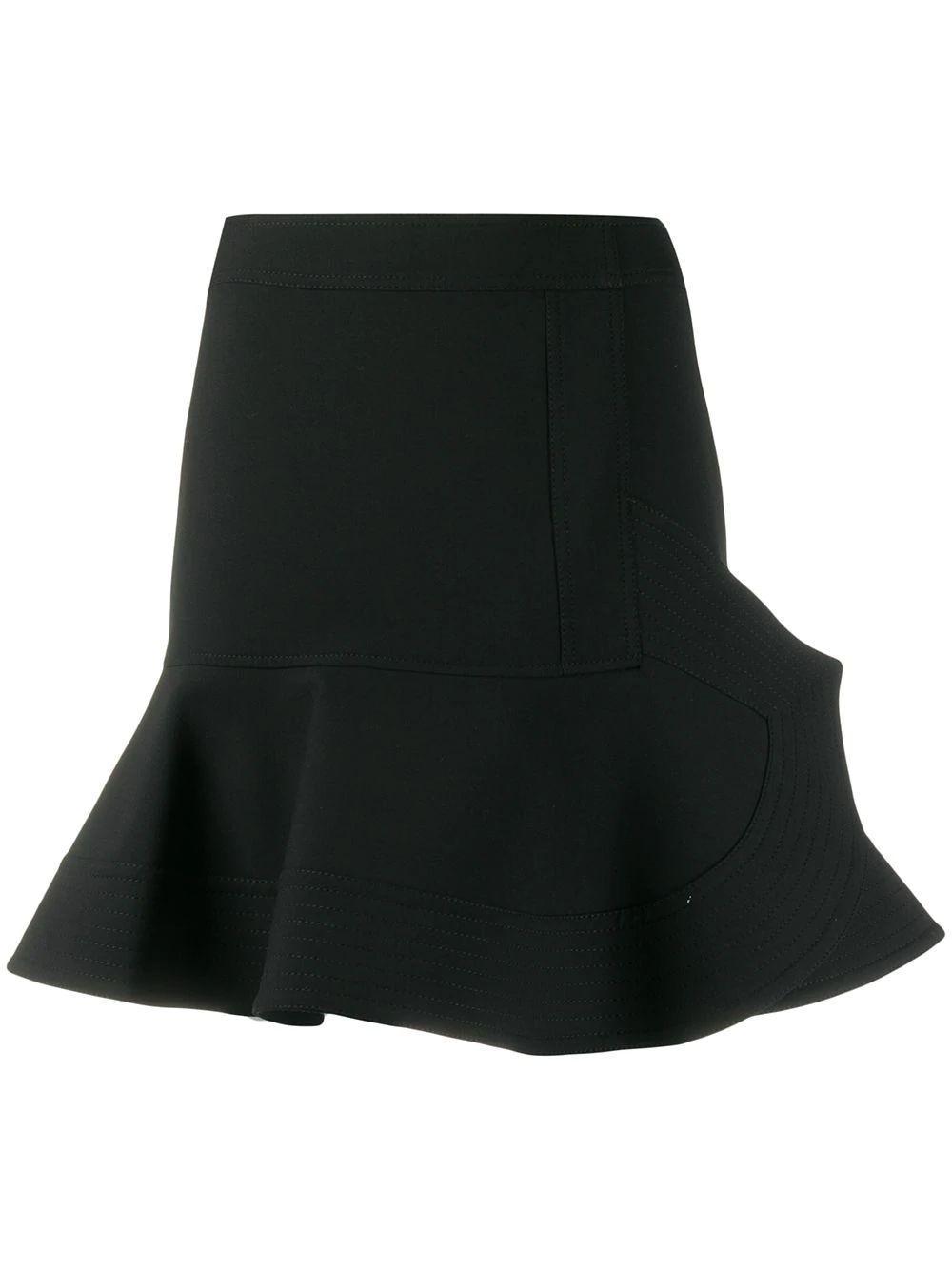 Peplum Hem Skirt Item # 2120WSK000495A