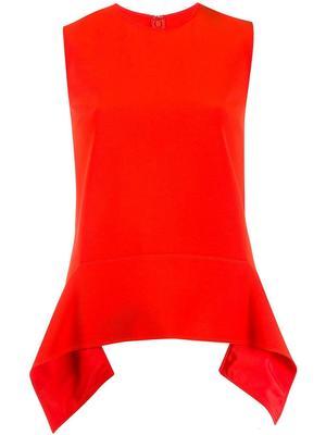 Sleeve Less Drape Detail Shell Top
