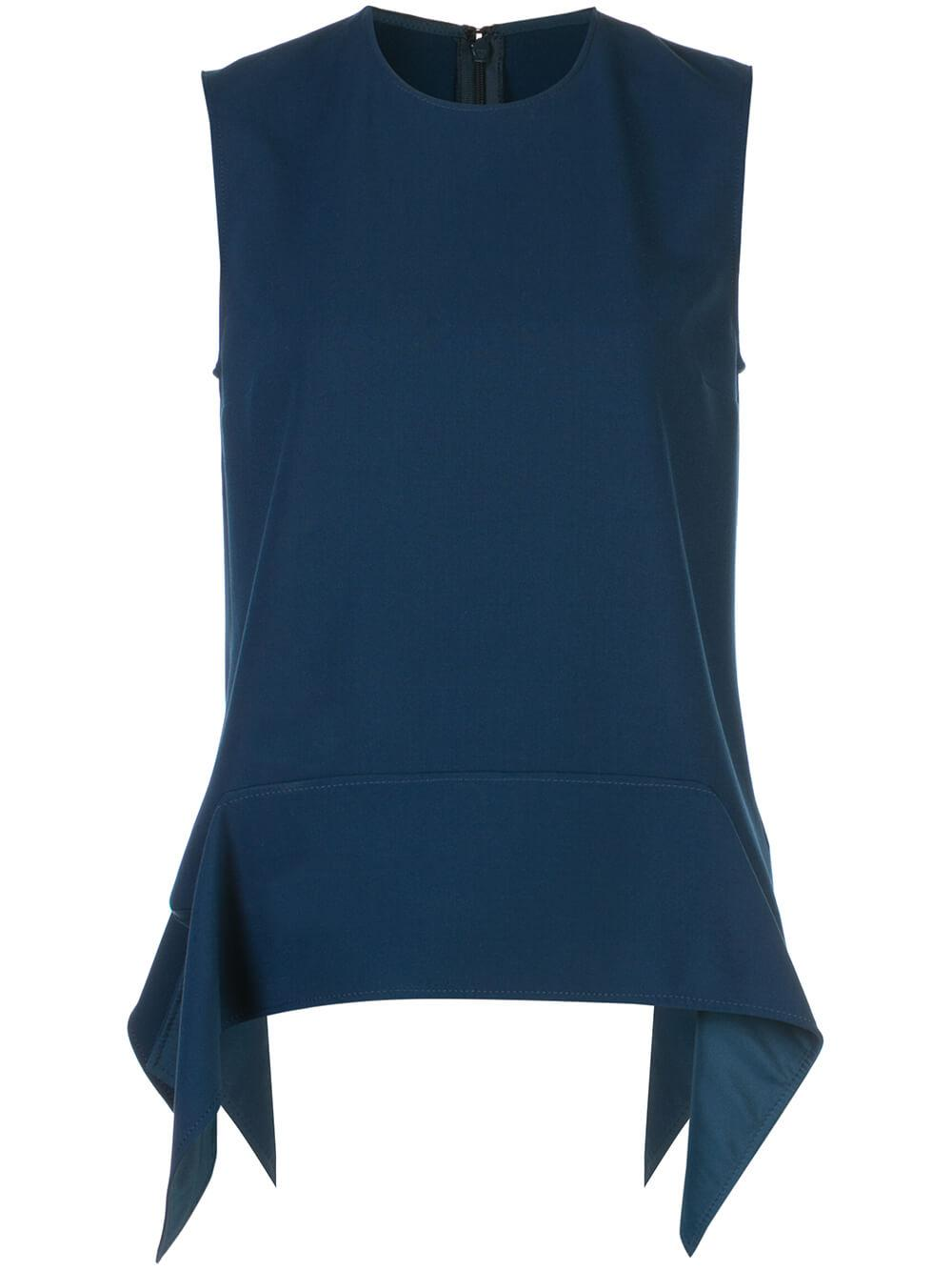Sleeveless Drape Detail Shell Top