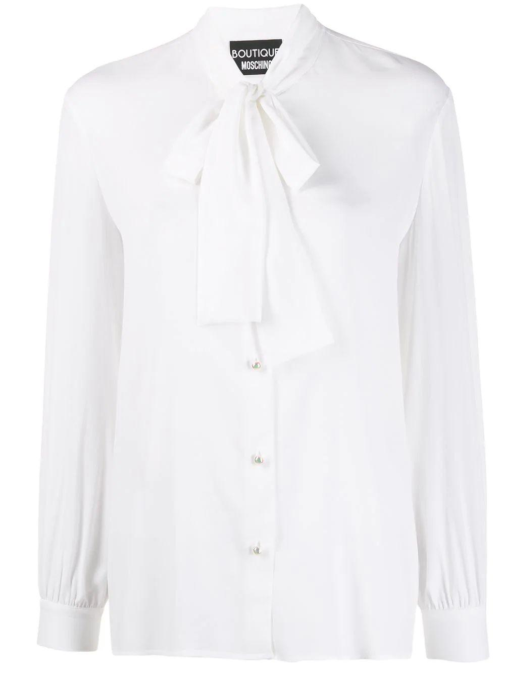 Long Sleeve Blouse With Neck Bow