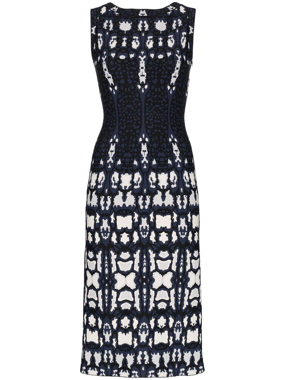 Sleeveless Printed Sheath Dress
