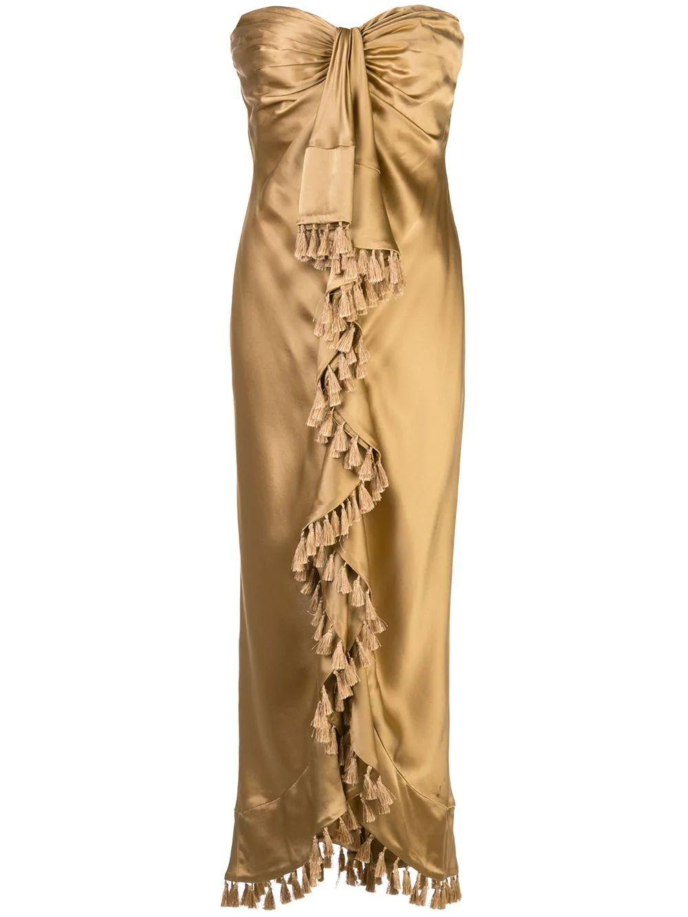 Elise Silk Midi With Tassels