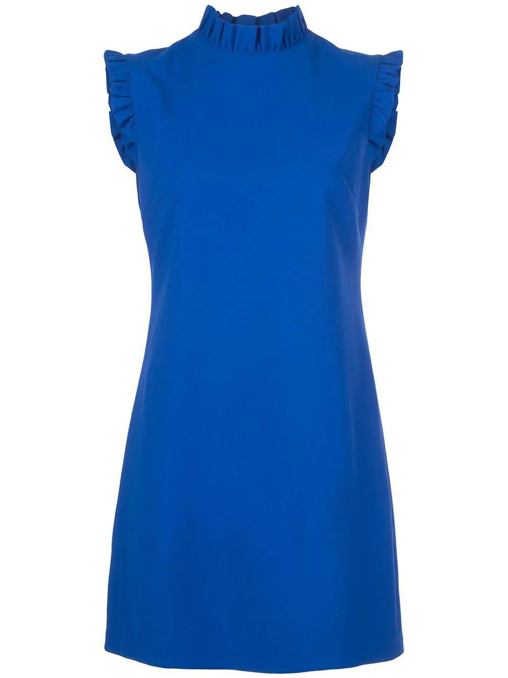 Elsa Ruffle Collar A Line Dress