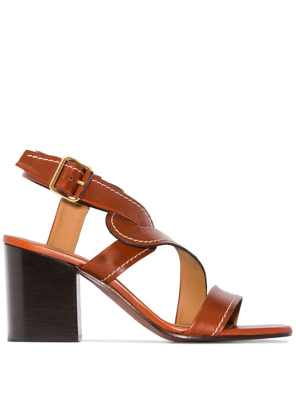 Candice Shiny 70mm Block Heel Sandal Item # CHC20S2779127S