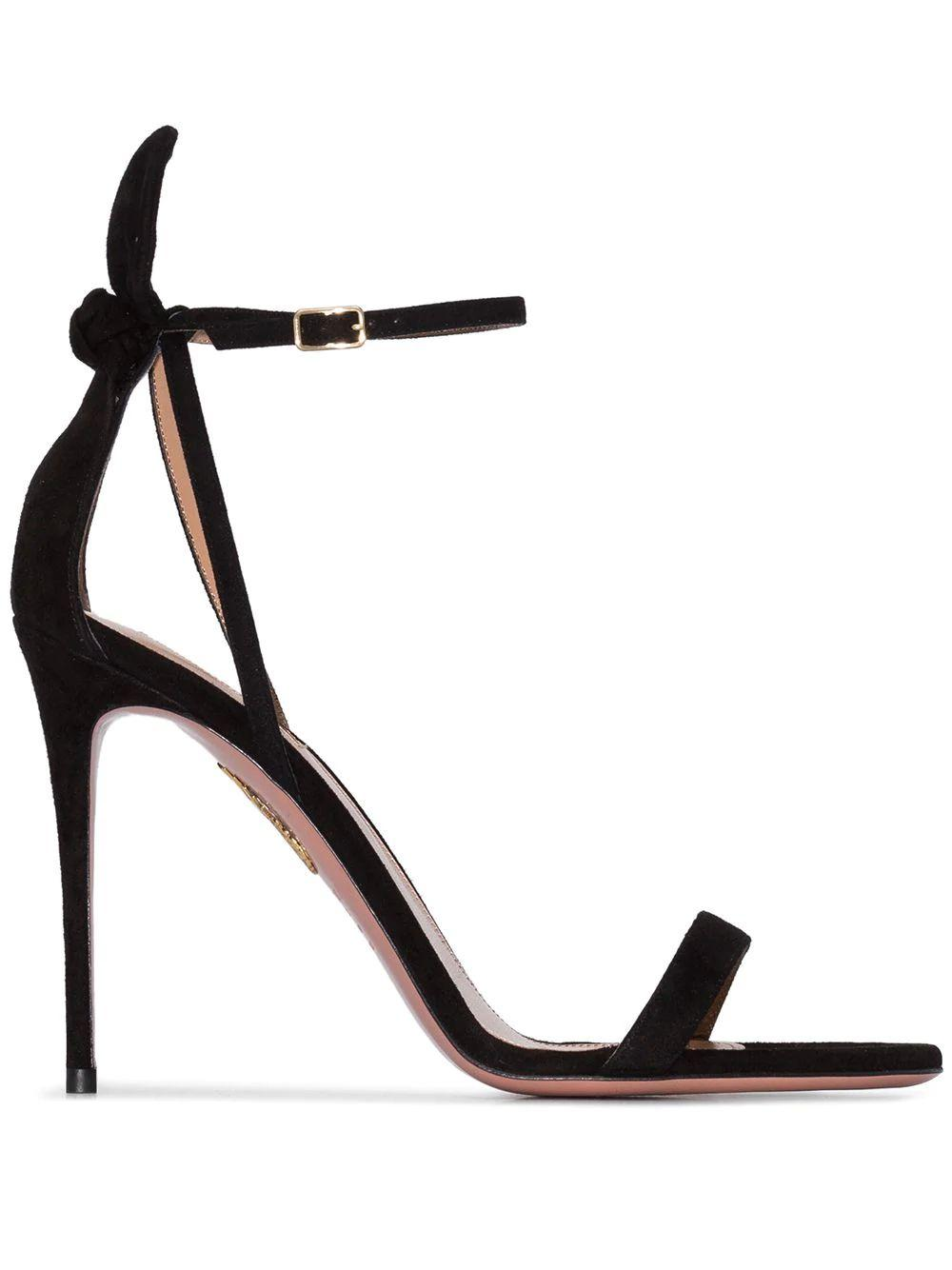Deneuve 105MM Suede Sandal With Ankle Strap
