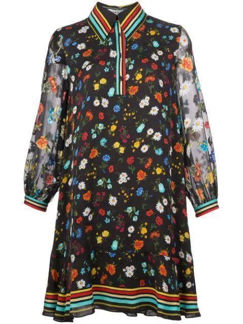 Lalita Collared Blouson Print Dress Item # CC912P68502