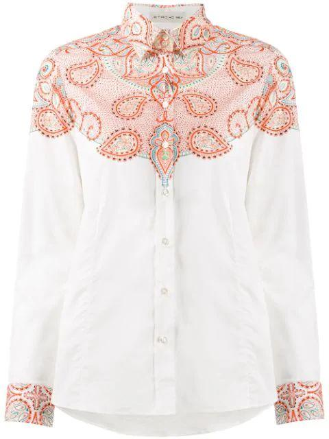 Long Sleeve All Over Print Button Up Shirt Item # 13552-9603