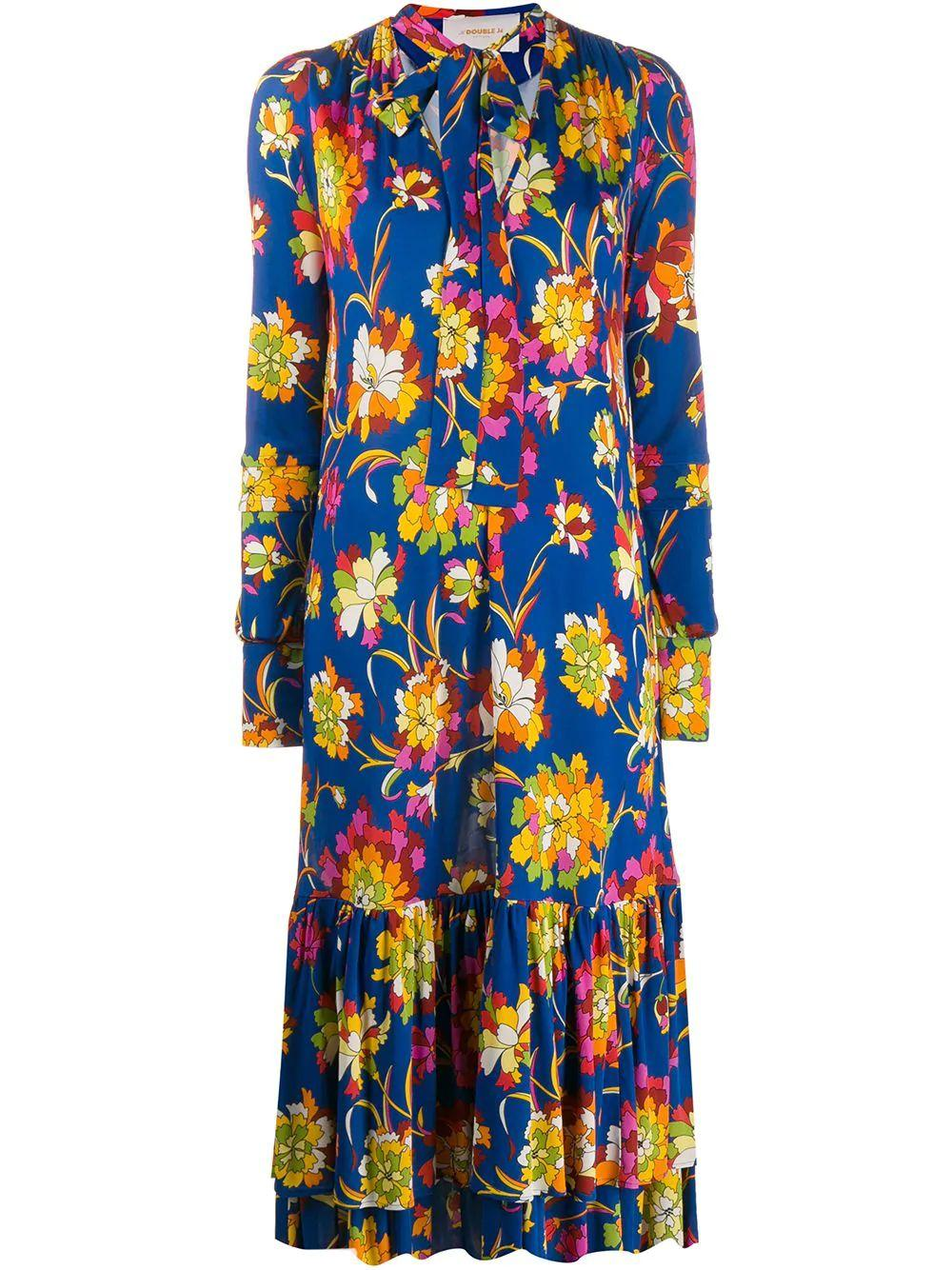 Good Witch Long Sleeve Floral Dress
