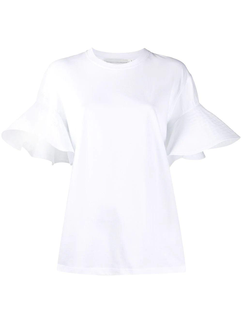 Flounce Sleeve T-Shirt
