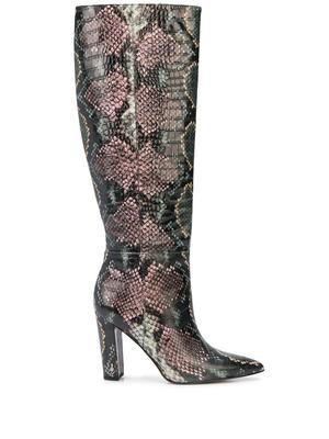 Tall Snake Print Boot
