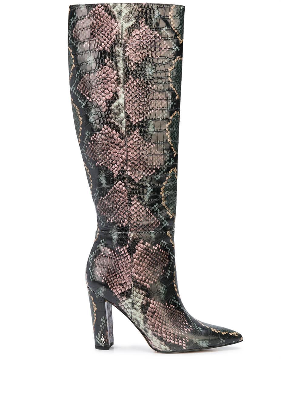 Tall Snake Print Boot