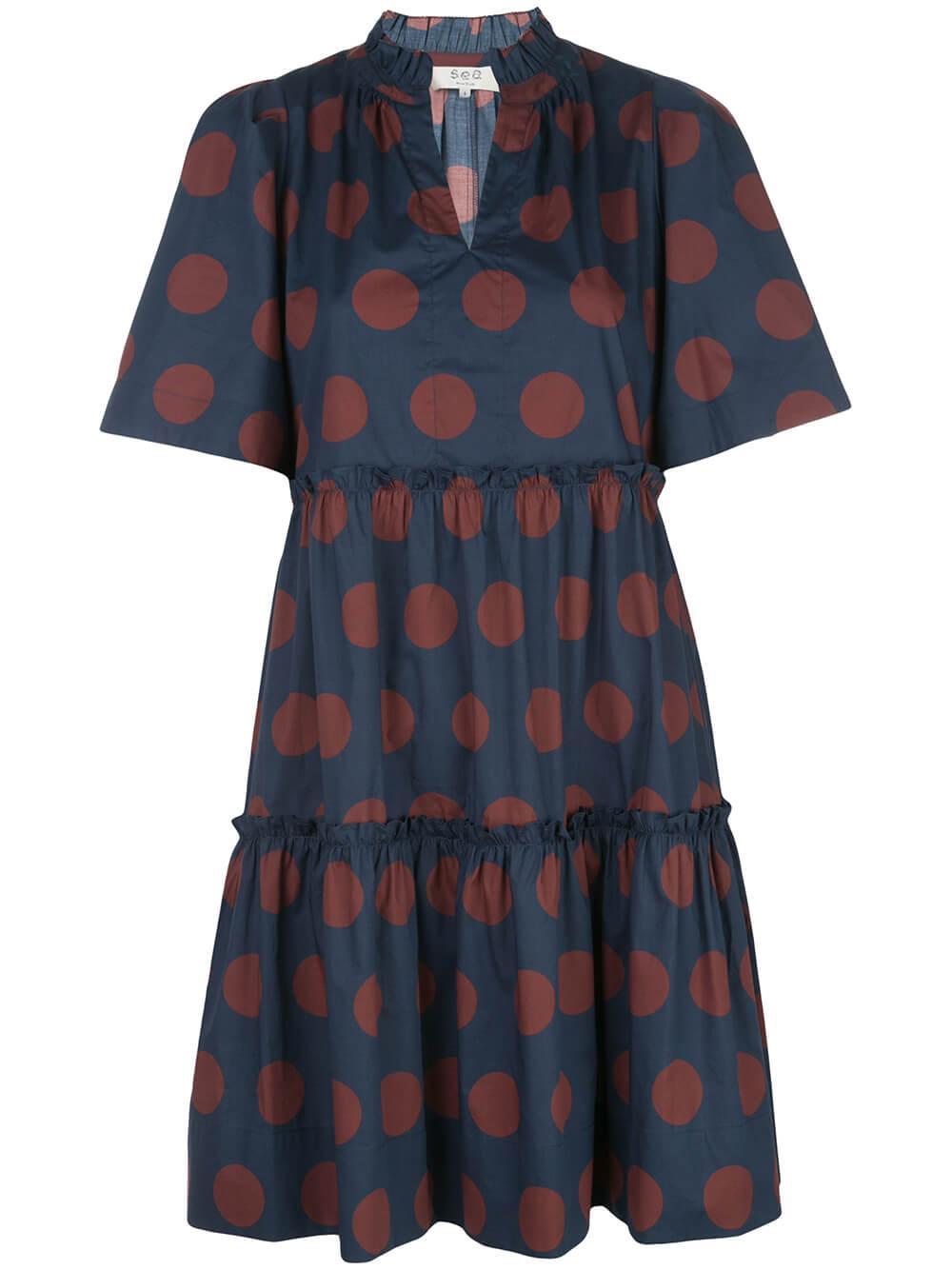 Penny Short Sleeve Polka Dot Dress Item # RS20-76