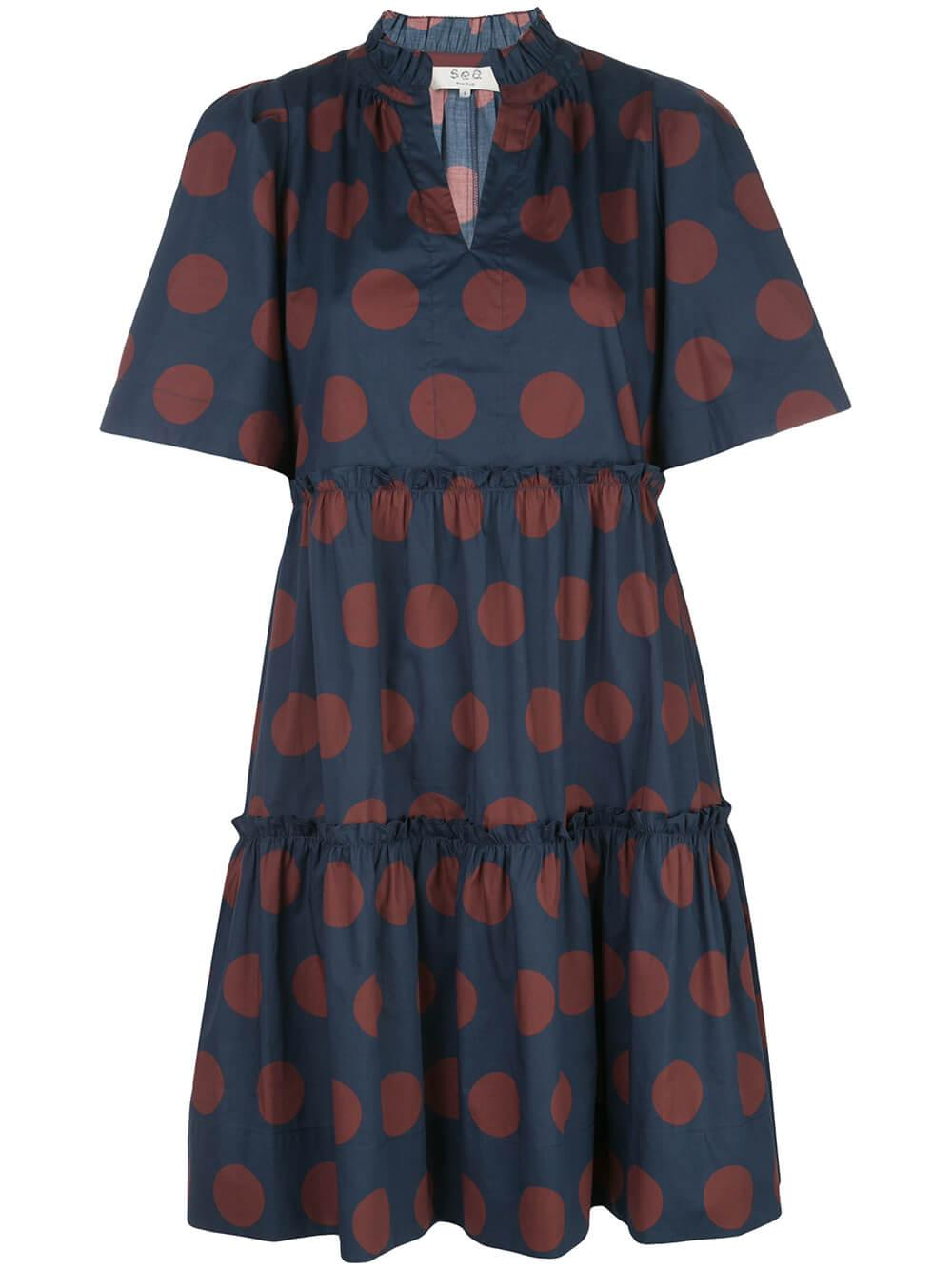 Penny Short Sleeve Polka Dot Dress