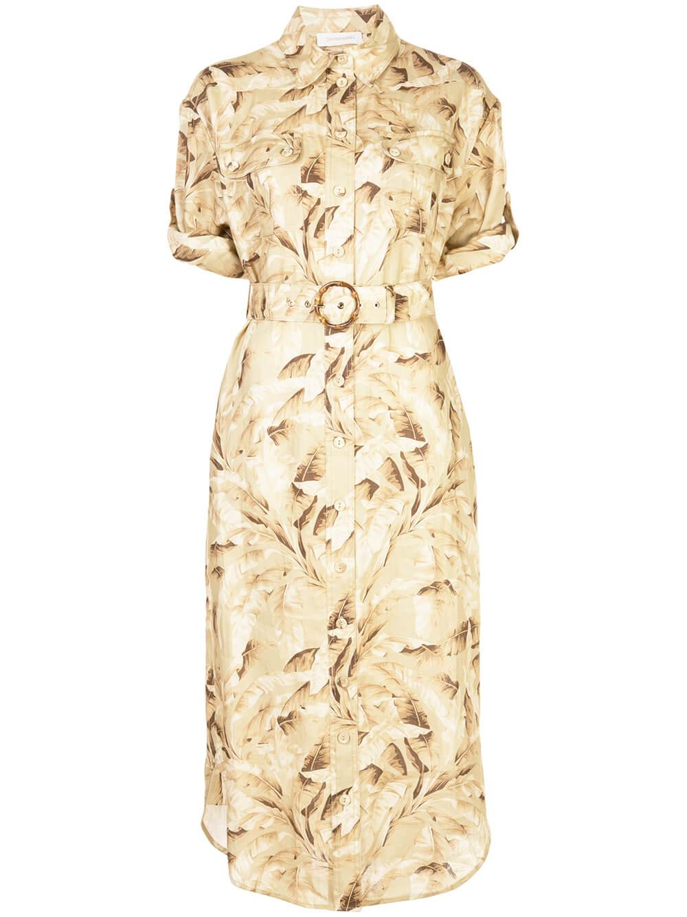 Super Eight Safari Midi Dress
