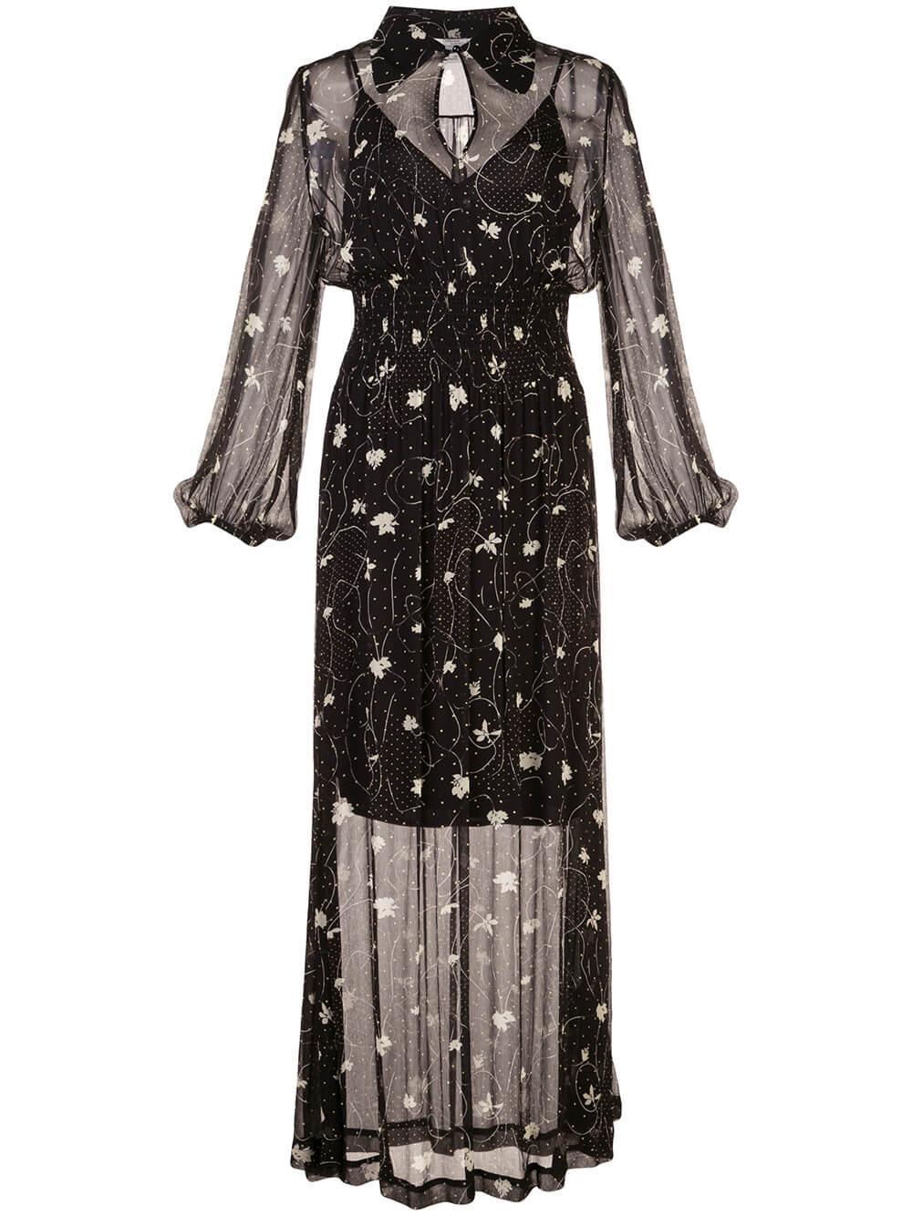 Amber Printed Maxi Dress