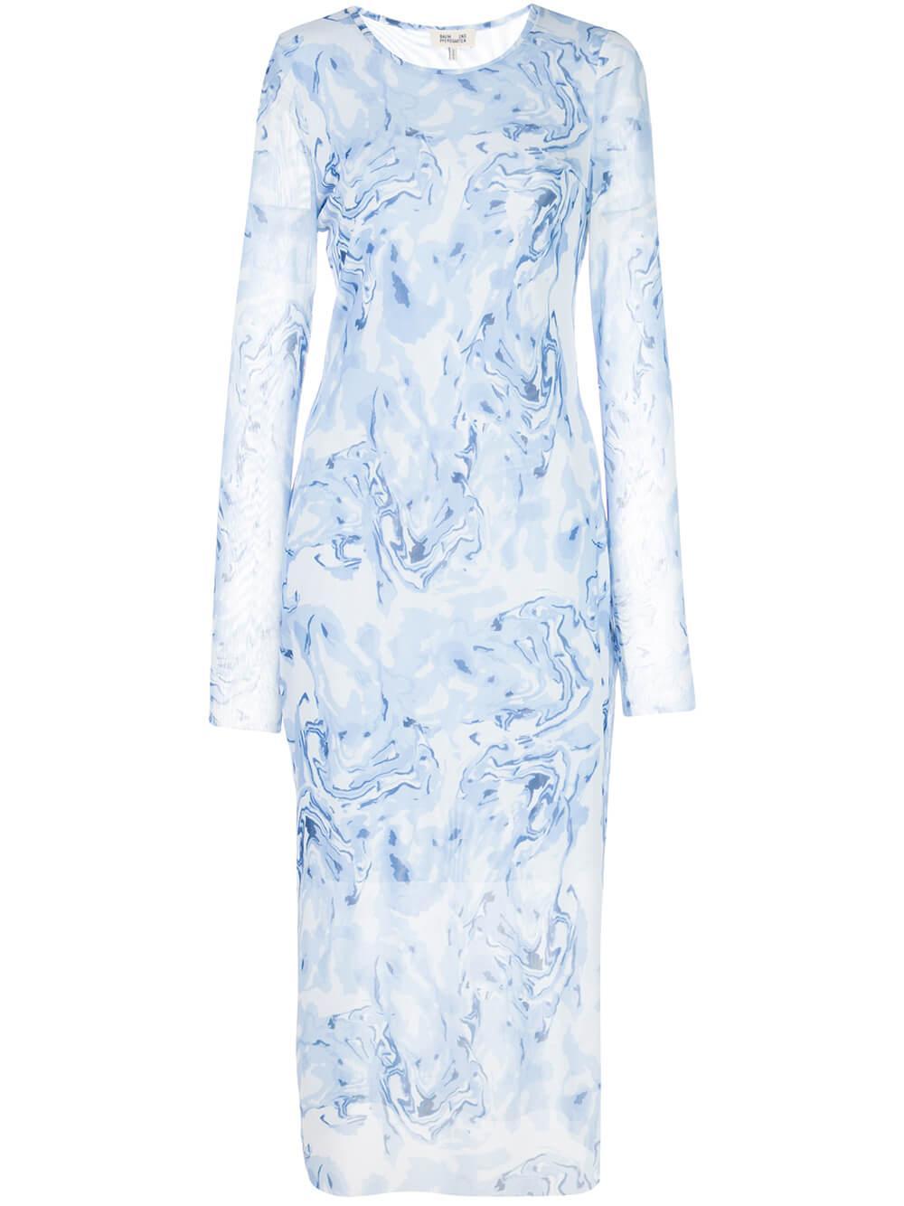 Jolanda Printed Mesh Midi Dress Item # 20829