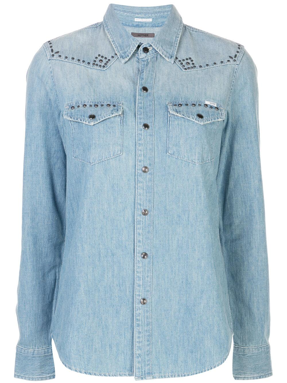 All My Exes Studded Denim Shirt